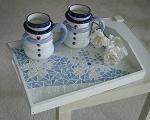 mosaic snowflake tray