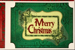 Old Fashioned Merry Christmas Card