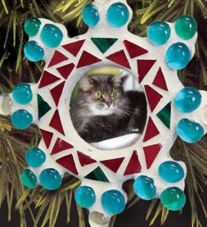 Snowflake Mosaic Picture Frame Ornament