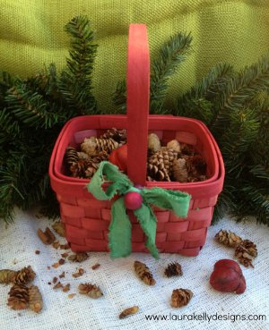 Little Red's Christmas Wicker Basket