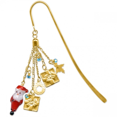 Santa and Presents Bookmark