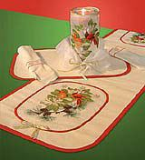 Sheer Magic Embroidered Holiday Table Set