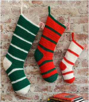 simple striped santa stocking