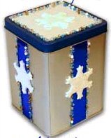 Winter Snowflake Cookie Tin