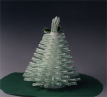 Christmas Tree from Drinking Straws