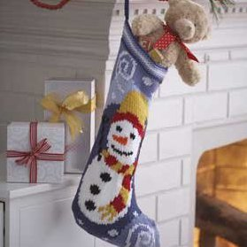 Christmas Snowman Stocking