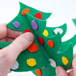 Felt Christmas Tree Step 4