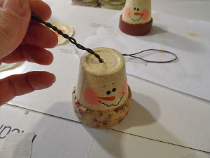 Clay Pot Snowmen