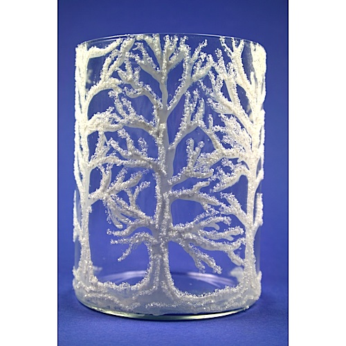 glitter tree vase
