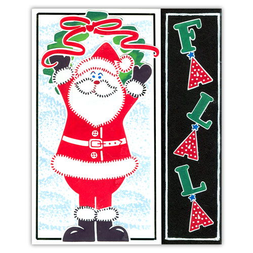 Santa Easy Stamp Card