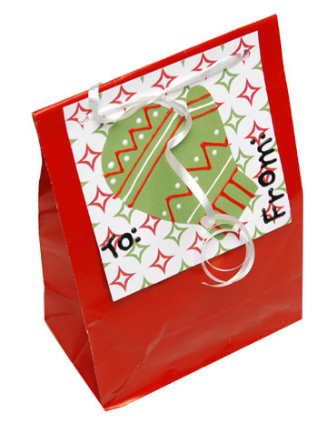 Mitten Christmas Gift Bag and Tag Set