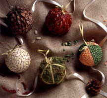 Nature Inspired Christmas Ornaments