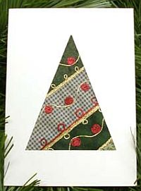 No Sew Quilt Christmas Card