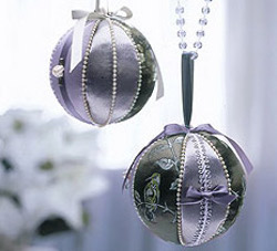 Satin Covered Ornaments