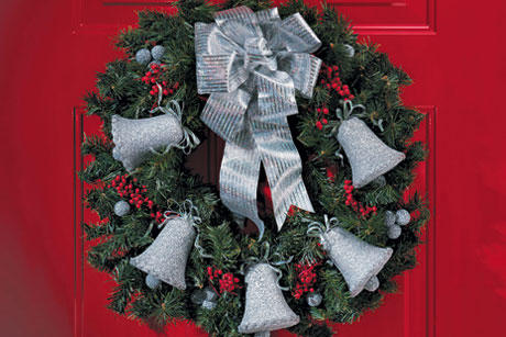 Silverbells Christmas Wreath