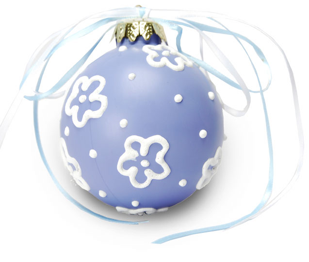 Snow Flower Christmas Ornament