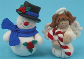 Snowman and Angel Christmas Ornaments