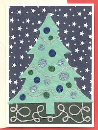 Starry Night Felt Christmas Card