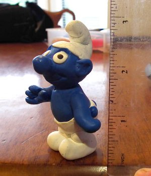 Clay Smurf Figurine