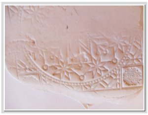 Stamped Clay Mosaic Tiles