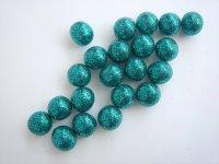 Aqua Glitter Beads