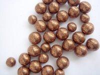 Brown Glitter Beads