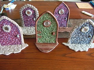 How to make polymer clay fairy doors for Make fairy door craft