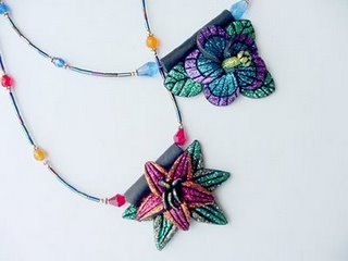 Glitter Clay Flowers