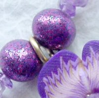 Purple Glitter Beads