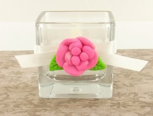 Rose Accented Votive Holder