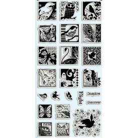 ButterfliesBirds Clear Stamps Feb2010 Product Review and Giveaway: Flowers and Birds Clear Stamp Sets