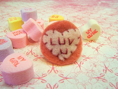 Conversation Heart Felt Ring