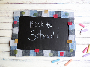 Denim Back to School Board