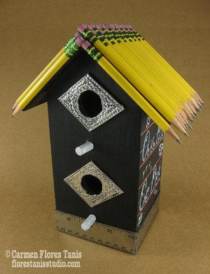 back to school birdhouse