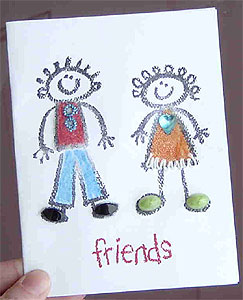 Crayon Friends Greeting Card