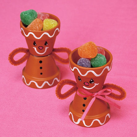 Ginger Bread Candy Pots