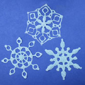 Glue and Glitter Snowflakes