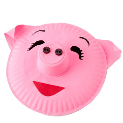 Pig Plate Recycle Crafts for Kids