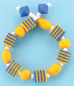 Smiley Face Beaded Bracelet