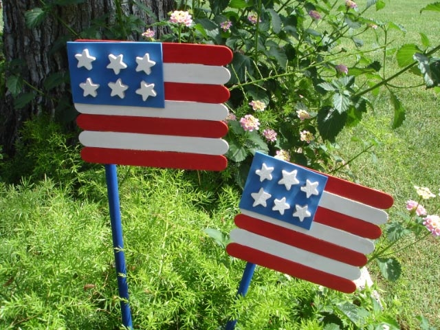 Crafty Wood Stick Flags