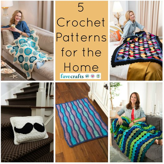 5 Crochet Patterns for the Home