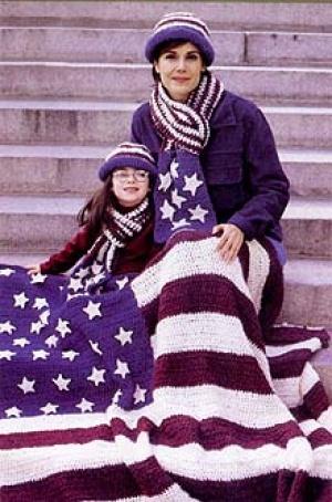 OLD-GLORY-AMERICAN-FLAG-AFGHAN-Crochet-Pattern- | eBay