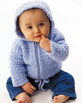 Baby Crochet Hooded Cardigan