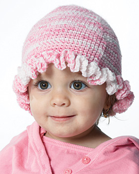 Free Crochet Pattern 20073 Primary Stripes Child's Hat & Scarf