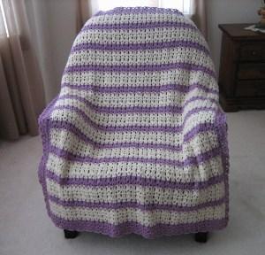 blueberry lemonade crocheted afghan pattern