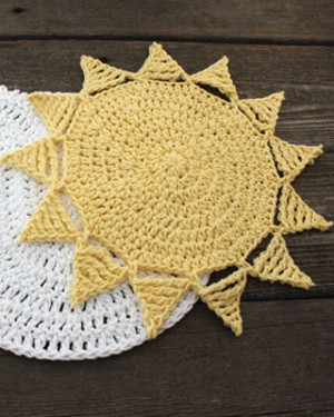 Buttery Sunshine Crochet Dishcloth