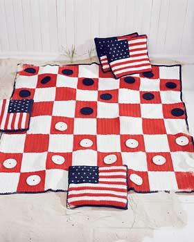 Checkers Game Afghan