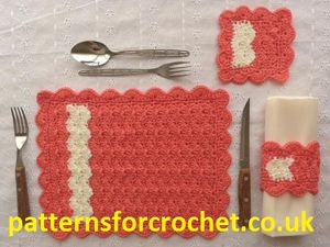Crochet Chevron Table Settings