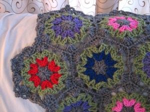 Colorful Beehive Afghan