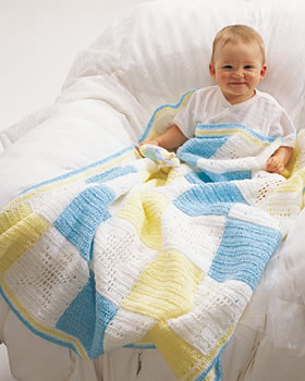 Crochet Baby Block Blanket
